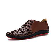 ko læder mænds flad hæl komfort Oxfords med lace-up sko (flere farver)