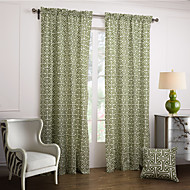Modern Two Panels Novelty Green Bedroom Cotton Panel Curtains Drapes