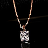 Ladies'/Women's Cubic Zirconia/Alloy Necklace Daily/Causal Pearl/Rhinestone