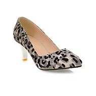Women's Spring / Summer / Fall Heels / Pointed Toe Leatherette Party & Evening / Dress Stiletto Heel Animal Print Yellow / Gray