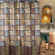 וילון מקלחת הדפס נמר אמנותי מופשט