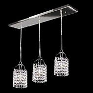 Max 40W Tiffany Crystal Metal Pendant Lights Living Room