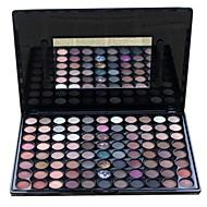 88 Paleta de Sombras Secos / Mate / Brilho / Mineral Paleta da sombra Pó Grande Maquiagem Esfumada / Maquiagem de Festa