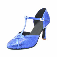 Customizable Women's Dance Shoes Modern Leatherette Customized Heel Black/Blue/Pink/Red/Silver/Gold