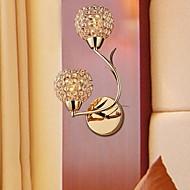 moderne gouden dubbele k9 kristallen wandlampen