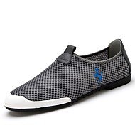 Men's Summer Closed Toe Tulle Casual Flat Heel Blue / Red / Gray Sneaker