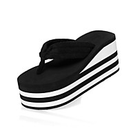 Women's Spring / Summer Wedges / Flip Flops / Slide Casual Wedge Heel Slip-on Black / Red