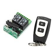 12V 2-kanálový bezdrátový dálkový ovladač relé modul s dálkovým ovládáním (DC14V - AC125V)