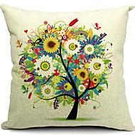blommig träd bomull / linne dekorativa örngott