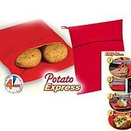 """patata expresa cocina de patata microondas, polipropileno 9.6 x0.4 """"X7.6"""" """""""