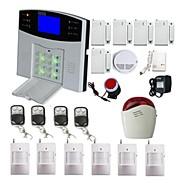 Sistema de alarma inalámbrica GSM LCD marcado automático de ladrón del hogar de Seguridad