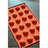 24 puoliympyrän suklaa multaa kakku, silikoni 29,8 × 17,4 × 1,5 cm (11,7 × 6,9 × 0,6 tuumaa)