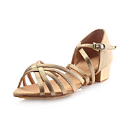 Zapatos de baile (Oro) - Danza latina - No Personalizable - Tacón grueso