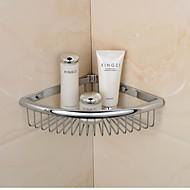 סל סבון משולש גימור כרום חומר פליז מדפים בודד אמבטיה מורכבת על קיר