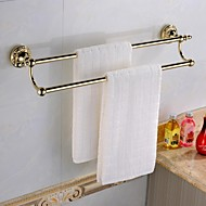 Towel Bar Ti-PVD Wall Mounted 60*14*8cm(23.62*5.5*3inch) Brass Antique