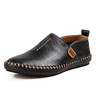 Men's Shoes Casual Leather Loafers Black/Brown/Khaki