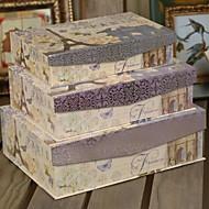 Eiffelturm Lila Kartenpapier Favor Box (3er-Set)