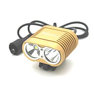 UniqueFire LT-HD-016 New Design 3 Modes 2xCree XML T6 Bike Led Headlight(3000LM.Battery Pack.Red)
