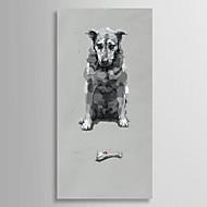 מצויר ביד בעלי חיים פנל אחד בד ציור שמן צבוע-Hang For קישוט הבית