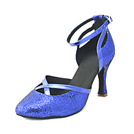 Customizable Women's Dance Shoes Modern Other Customized Heel Black/Blue/Pink/Red/Silver