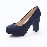 Women's Spring / Summer Heels Suede Dress Chunky Heel Others Black / Blue / Pink / Red