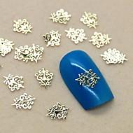 200pcs vintage royal design gouden metalen schijfje nail art decoratie