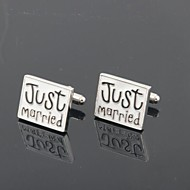 "Groom/Groomsman ""Just Married"" Brass Cufflinks"