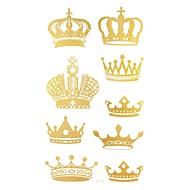 2ks koruna zlato třpytky tetování samolepky dočasné tetování