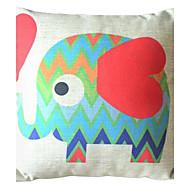 красный слон декоративная подушка со вставкой