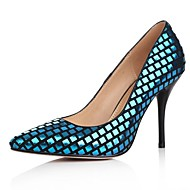 נעלי נשים - בלרינה\עקבים - עור כבשים - עקבים / שפיץ - כחול / כסוף / זהב - שמלה - עקב סטילטו