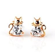 Stud Earrings Couples'/Kid's/Women's Cubic Zirconia Earring Cubic Zirconia