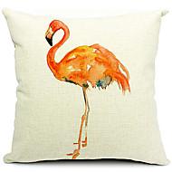 moderna konstnärliga fågel bomull / linne dekorativa örngott
