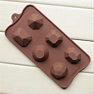 תבניות שוקולד וריבת קרח עוגה בצורת סדרת יהלום קריסטל 6 חור