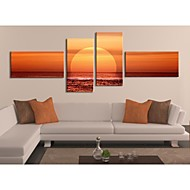 Personalized Canvas Prin  The Sunset On The Sea 30x60cm  40x80cm  50x100cm  Gallery Wrapped Art Set of 4
