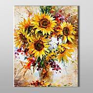 Ručně malované Květinový/Botanický motiv Jeden panel Plátno Hang-malované olejomalba For Home dekorace