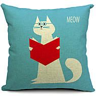 כותנה חתול חמוד מדינה / כיסוי כרית פשתן דקורטיבי