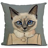 tegneserie smuk kat bomuld / hør dekorative pudebetræk
