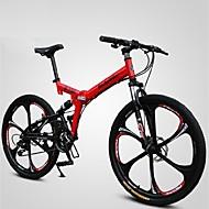 Mountain bike Összecsukható kerékpár Kerékpározás 21 Speed 26 hüvelyk/700CC Shining SYS Dupla tárcsafék Springer villa Soft-tail váz