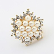 European Style Fashion Sweet Pearl Adjustable Ring