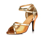 Women's Leatherette Upper Buckie Ballroom Samba Shoes Sandals(More Colors)