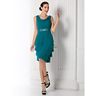 Homecoming Cocktail Party/Prom/Holiday Dress - Jade Plus Sizes Sheath/Column Cowl Knee-length Georgette