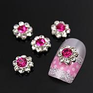 10st pruim zon bloem met strass bloemblaadje 3d legering nail art decoratie
