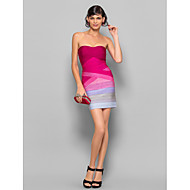 tuppi / sarake olkaimeton lyhyt / mini silkki side mekko