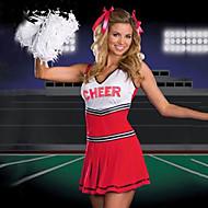 Hot Girl Red Terylene Cheerleader Uniform