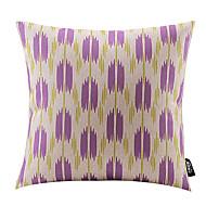 abstrait fleur pourpre coton / lin taie d'oreiller décoratif