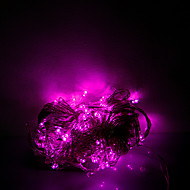 10m 100 LEDs Dia das Bruxas Natal luzes decorativas festivo do fio de luz rosa claro tira luzes-comum (220v)