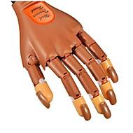 1pcs salão de beleza prática treino mão&incluídos 100pcs pontas das unhas para nail art