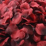 vermelho e preto escuro pétalas de rosa decoração da mesa (conjunto de 100 pétalas)