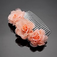 Women's/Flower Girl's Cubic Zirconia/Chiffon Headpiece - Wedding/Special Occasion/Outdoor Hair Combs/Flowers