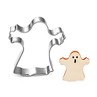 Halloween Theme Witch Shape Cookie Cutter, L 6.3cm x W 6cm x H 2.5cm, Stainless Steel